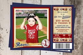 1st Birthday Invitation Card For Baby Boy All Sports Ticket Birthday Invitation All Star Sports Theme