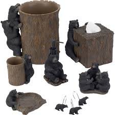 avanti black bear lodge lotion pump shower curtains u0026 bath rugs