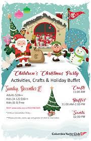 children u0027s christmas party 12 10 2017 columbia yacht club