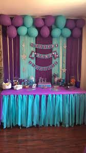purple baby shower decorations i like this child bathe banner purple turquoise animals