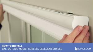 how to install bali cordless cellular shades outside mount