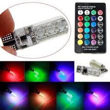 2x car t10 rgb led light reading light bulb multi color variable