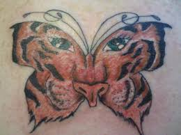 tiger butterfly by bad tattoos tattoonow