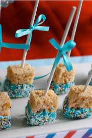 take rice krispy treats pre packaged and cut in half take white