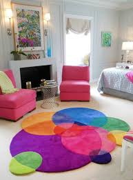 Purple And Turquoise Area Rug Bubbles Contemporary Modern Area Rugs By Sonya Winner