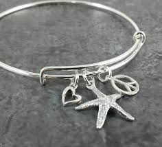 silver bracelet with charm images Adjustable sterling silver bangle charm bracelet expandable jpg