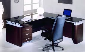 Desks And Office Furniture Stunning Modern Office Table With Glass Top Photos Liltigertoo