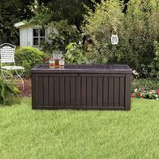 keter 214301 rockwood 150 gallon deck box ebay