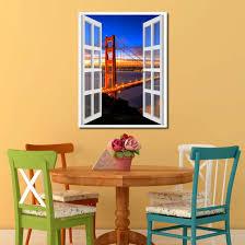 golden gate bridge san francisco california sunset picture window