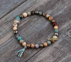 elastic bead bracelet images Simple bracelet handmade boho half plating square crystal bracelet jpg