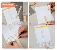 wedding program fans vistaprint 10 diy wedding ideas how to guides vistaprint grey yellow