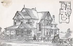 country victorian house plans frame cottage house plans 1881 antique by surrenderdorothy on etsy