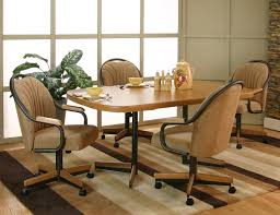 Padded Dining Room Chairs Stunning Upholstered Dining Room Chairs With Casters Pictures