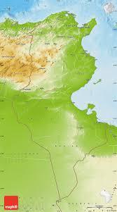tunisia physical map physical map of tunisia