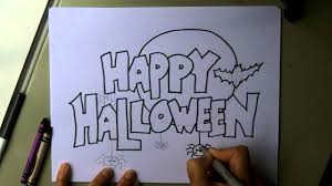Halloween Drawing How To Make A Happy Halloween Poster Sign Invitation Or Card
