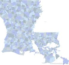 Louisiana State Map by Zip Codes In Louisiana Map Zip Code Map
