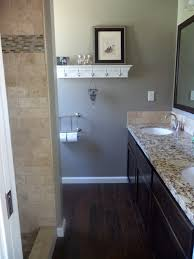 Wood Tile Bathroom Floor by Tile Floors With Dark Cabinets An Excellent Home Design