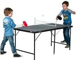 collapsible table tennis table slazenger children s 5ft indoor folding table tennis table amazon