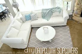 Where To Buy Slipcovers Make A Dropcloth Sofa Sectional Slipcover Tatertots And Jello