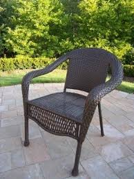 Wicker Patio Chair by Resin Patio Chairs Foter