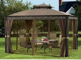 gazebo mosquito netting outdoor gazebo with mosquito netting and privacy panels whyrll