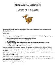 Thanksgiving Writing Paper Writing Persuasive Letter To The Farmer From The Turkey