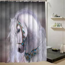 Horse Curtain Rod by Magic Horse Curtains Three Wild Horses