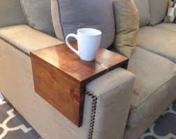 couch arm coffee table arm rest table etsy