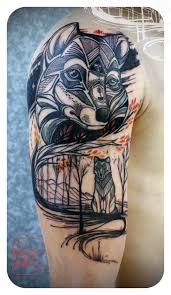 wolf wild tattoo tattoomagz