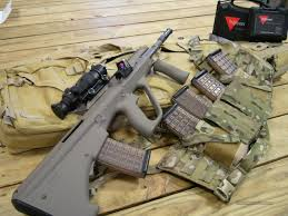 amazon acog black friday steyr aug a3 sf special forces bullpup with four 42 round mags