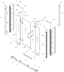 bliss standard 1200mm alcove left hand hinged shower door and