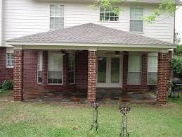 patio ideas stone flooring option under patio roof plan in front