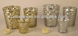 Silver Mercury Glass Vases Wholesale High Quality Cheapest Tealight Pier One Votive Vase Ornaments