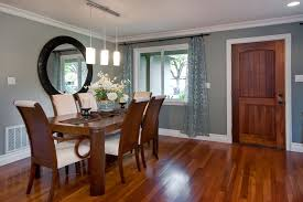 wall mirror in dining room dining room contemporary with withe