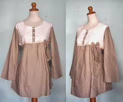 desain baju gamis hamil desain busana muslim untuk ibu hamil masa kini batik keris