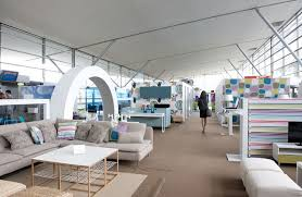 temporary ikea lounge at the charles de gaulle airport has nine