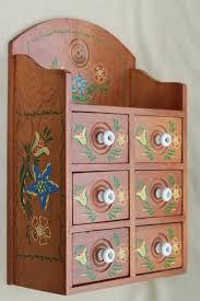 Vintage Wooden Spice Rack Pantry Storage Canisters U0026 Spice Jars