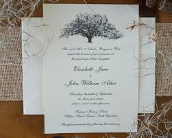tree wedding invitations live oak tree wedding invitations