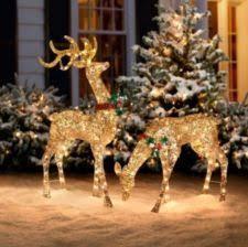 outdoor lighted reindeer decoration rainforest islands