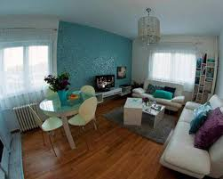Loveseat For Small Apartment Impressive Small Apartment Living Room Design Layout With Blue