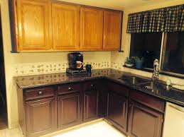 general finishes brown mahogany gel stain regular oak cabinets to