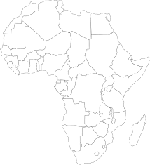 africa map black and white free vector graphic africa map political free image