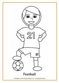 sports colouring pages