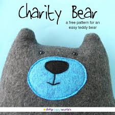 warren the charity bear a free teddy bear pattern shiny happy