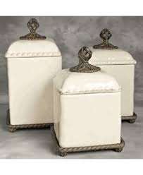 cream kitchen canisters original acanthus leaf cream canister set w metal base gg