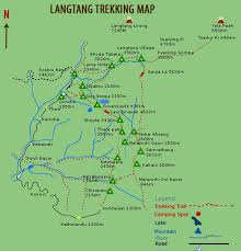Kathmandu Nepal Map by Kyangjin Gumba Trek Trekking In Nepal