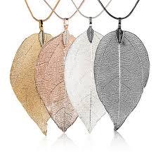 long leaf necklace images Bijoux femme women special leaves leaf sweater pendant necklace jpg