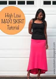pattern for simple long skirt high low maxi skirt sewing tutorial