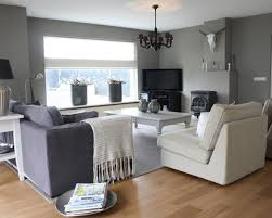 charming grey colour schemes for living rooms with dark brown