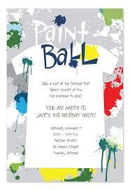 paint ball champion birthday invitations by invitation